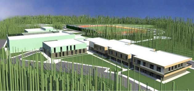 Druskininkų sportininkų rengimo ir reabilitacijos centro vizualizacija.